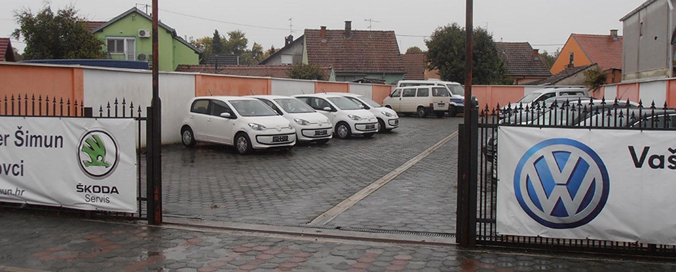 Šimun d.o.o. za proizvodnju, trgovinu, usluge i posredovanje. Vinkovci, H. V. Hrvatinića 81, tel: 032/306-532, fax: 032/306-531. Ovlašteni prodajni i servisni partner za Volkswagen. Ovlašteni Škoda servis. Rabljena vozila, Vinkovci